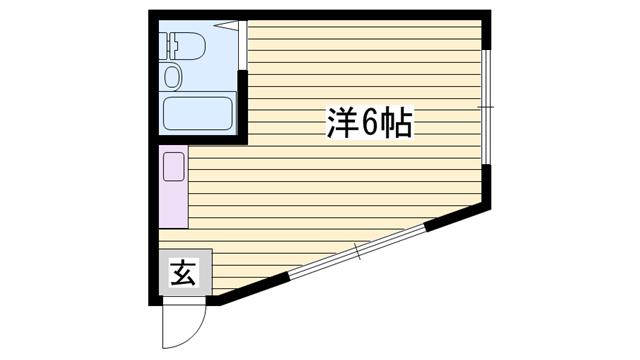 物件番号: 1115114687  姫路市上大野4丁目 1R マンション 間取り図