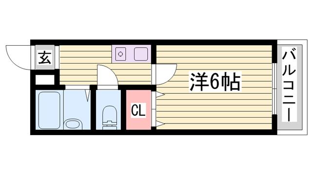 物件番号: 1115177341  加東市松沢 1K マンション 間取り図