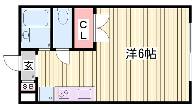 物件番号: 1115185876  加東市喜田2丁目 1R ハイツ 間取り図