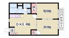敷金0円 敷地内に駐車場完備 大手ハウスメーカー施工 203の間取