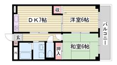 防犯ガラス設置 姫路駅徒歩圏内 洗面所独立 103の間取