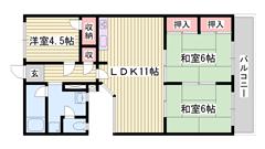 山陽網干駅へ徒歩圏内 広々バルコニー 収納スペース多数 3003の間取