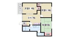 敷金・礼金0円物件 24時間セキュリティシステム BSアンテナ 104の間取