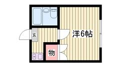 敷金・礼金0円! 家具家電付き! 102の間取