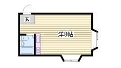 カーサ香呂 206の間取