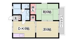 駐車場代一台込み BSアンテナ  TVモニター付インターホン 角部屋 202の間取