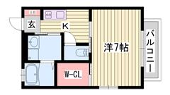 飾磨駅徒歩2分 オール電化 浴室乾燥機付き 202の間取