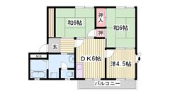 駐車場1台お家賃に込み☆山陽電鉄西飾磨駅徒歩8分です! 202の間取