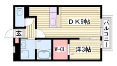 駐車場1台込み☆ イオン上郡ショッピングセンター目の前(#^.^#) 203の間取