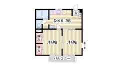 敷金0円 この広さでこのお家賃です 保証人不要 201の間取
