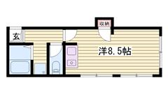 姫路駅徒歩圏内です♪♪ コンビニ目の前で立地良好です!! 401の間取