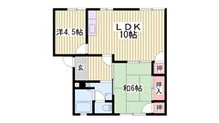 モニター付インターホン 人気の角部屋です 日当たりも良く家族におすすめ 101の間取