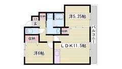 設備充実の2011年3月築物件! 駐車場1台込み! 103の間取