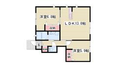 駐車場1台込み☆ 専用庭付き 駅まで徒歩1分です!! 101の間取