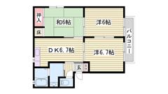 平松駅まで徒歩圏内☆ 駐車場1台込み♪ 小・中学校近く通学安心です 201の間取