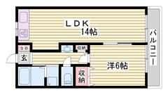 リノベーション物件☆ スーパー・コンビニ近く生活便利♪  103の間取