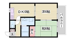 CSアンテナ CATV対応 角部屋 閑静な住宅街です 201の間取
