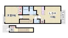 敷金0円物件 敷地内に駐車場完備 大手ハウスメーカー施工  204の間取