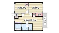 敷金・礼金0&0円☆ フルリフォーム物件 ウォシュレット付き 203の間取