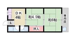JR英賀保駅徒歩圏内! 閑静な住宅街 南向きバルコニーで日当り良好☆ 201の間取