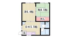 角部屋 バス・トイレセパレート 山陽飾磨駅徒歩圏内 202の間取