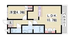 近隣にスーパー、コンビニが有ります 浴室乾燥機付き 安心のモニター付インターホン 202の間取