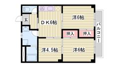 敷金・礼金0円物件 TVモニターホン 相生駅徒歩圏内です  202の間取