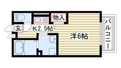 エアコン シューズボックス付き 播磨高岡駅徒歩圏 102の間取