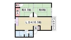 3DK→2LDKに改装物件☆ キッチン新調☆ この広さでこの家賃はおすすめ!! 201の間取