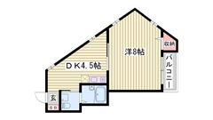 姫路駅まで徒歩1分☆ 嬉しい都市ガス仕様!! 充実の設備ですよ(#^.^#) 401の間取