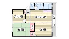 ペットと暮らせるハイツ☆ 駐車場1台家賃込み☆ 生活しやすい住宅環境♪ 103の間取