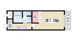 駅近!!設備充実で単身者にオススメ♪閑静な住宅街です☆ 202の間取