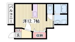 設備が充実♪♪外観もオシャレです☆広さゆったりめのお部屋で快適です! 105の間取