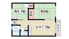 敷金0円 閑静な住宅街で広いスペースの物件です! スーパー徒歩圏内 3の間取