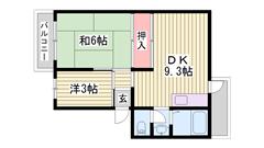 駐車場1台込み☆ 2面バルコニー!! 洗面所独立 102の間取