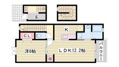 敷金0円 JR駅徒歩2分の新築ハイツ☆ 近代的デザインでオシャレな一人暮し♪ 304の間取