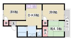敷金0円☆ スーパー近く!! 閑静な住宅街(#^.^#) 105の間取