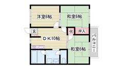 ペットOK 収納スペース多数 駐車場1台込み 202の間取