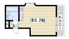 ウォシュレット完備 冷蔵庫付き 日当たり良好 305の間取