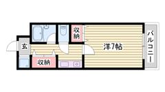 室内大規模リフォーム済み☆敷・礼0円物件☆ペット飼育可能♪猫もOKです! 506の間取
