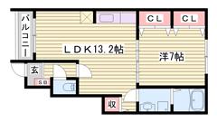 ペット飼育OK☆ 播磨高岡駅徒歩3分!! 駐車場代は縦列2台分! 105の間取