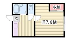 嬉しい駐車場1台込み☆ リノベーションで内装キレイです!! 単身さんにおすすめ♪ 105の間取