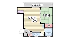 姫路市街へのアクセス便利♪ 広々リビングですよ! 401の間取