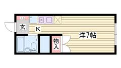 敷金・礼金0円物件☆ 犬・猫飼育OK!! 大津イオンが近いですよ♪♪ 201の間取