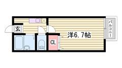 駐車場1台敷地内アリ☆ IHコンロで経済的♪ NTT光対応してます 204の間取