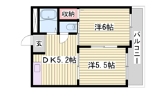 ペットOKマンション☆ 嬉しいエアコン付き!! 全部屋洋室ですよ♪♪ 302の間取