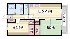 ペットOK物件ですよ☆ 近くにコンビニ・スーパー有りますよ!!  101の間取