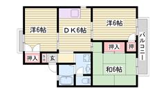 閑静な住宅地 余部駅徒歩圏内 人気の角部屋 201の間取