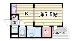 オートロック完備で防犯面◎兵庫大学まで徒歩8分!!学生さんオススメ(^O^) 113の間取