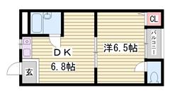 礼金0円! ペット相談可能 エアコン・冷蔵庫・照明器具付き 202の間取